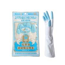 姣兰 花边手套 鲨鱼油植绒家务手套 洗碗手套 劳保手套