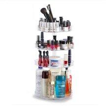 360旋转透明亚克力化妆品收纳盒桌面梳妆台护肤品整理置物架