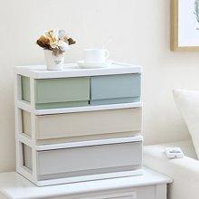 办公桌面收纳盒塑料多层小抽屉式文件化妆品收纳柜杂物饰品整理箱