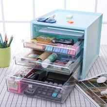办公室桌面收纳盒多层桌面文件收纳柜置物架创意抽屉式文具储物箱