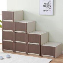 阡佰家 日式收纳柜 自由组合收纳柜  床头塑料收纳柜  抽屉柜