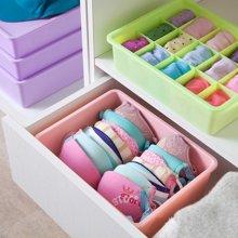 内衣收纳盒塑料内衣裤文胸内裤袜子 桌面整理收纳盒