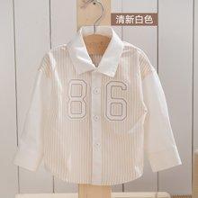 威尔贝鲁 纯棉婴儿宝宝衬衣 男女儿童长袖衬衫彩棉春秋季童装新款