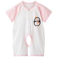 班杰威尔新生儿夏季纯棉宝宝内衣短袖哈衣初生婴儿连体衣服