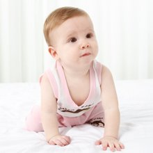 班杰威尔婴儿背心吊带套装纯棉宝宝夏装小孩衣服夏天儿童童装两件套