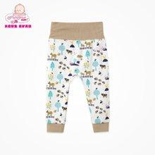 丑丑婴幼新生儿婴儿裤子宝宝裤子纯棉长裤高腰护肚裤