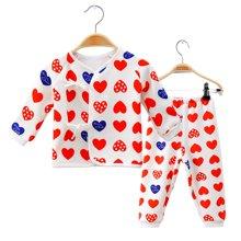 快乐城堡 婴童秋冬加绒加厚合同系带两件套装 HY340115