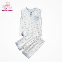 丑丑婴幼 男女宝宝夏季新款家居短套装 1岁半-5岁