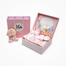 丑丑婴幼新生儿用品礼盒套装秋季新款婴儿夹棉内衣套装宝宝礼盒