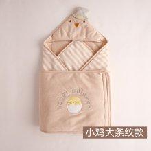 威尔贝鲁 婴儿抱被 新生儿包被 秋冬纯棉包巾 春秋彩棉宝宝襁褓