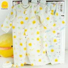 黄色小鸭 伙伴小鸭前开襟纱布套装 32029