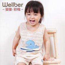 威尔贝鲁 新生儿宝宝衣服 婴儿夏装连体衣 短袖爬服哈衣 夏季纯棉