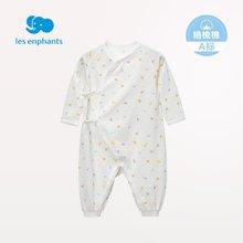 丽婴房婴儿衣服 新生儿连衣装 男女宝宝系带连身裤 春款内衣