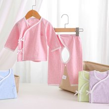 【Cottonshop棉店】反季促销经典款宝宝套装婴儿服装 柔软和尚系带服