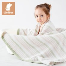 威尔贝鲁 婴儿浴巾纯棉纱布新生儿浴巾洗澡巾 宝宝浴巾柔软纱布巾