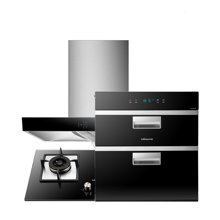 Vanward/万和X09A+B9L10Z+100Q-5A 高端品质大吸力+大火力+洁净消毒 万和厨房烟灶消(带绿标)三件套