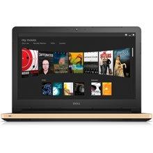 戴尔笔记本14英寸14UR-3548G金色i5-6200U 4G内存 1TB硬盘 AMD R5 M335 4G独显  DVDRW光驱 WIN10  高清屏