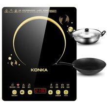 康佳超薄电磁炉KEO-21C289CB 厚度仅4.5厘米,额定功率2100W,触控黑晶面板