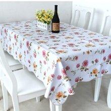 艾可优 HM41白色 pvc桌布防水免洗茶几桌布塑料餐桌布餐垫防油