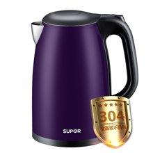 SUPOR/苏泊尔家用电热水壶304不锈钢食品级煮烧开水壶