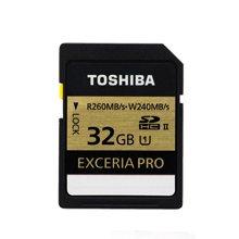 TOSHIBA东芝SD卡32G 高速单反相机存储卡260M 金卡 UHS-II