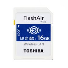 东芝(TOSHIBA) 16G FlashAir 第四代无线局域网嵌入式 SDHC存储卡 U3 Class10