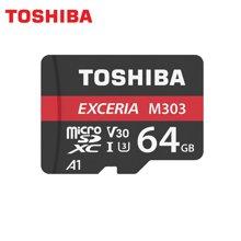 东芝(TOSHIBA)A1 64GB 读速98MB/s 写速65MB/s TF(micro SD) UHS-I V30 U3 4K 高速存储卡