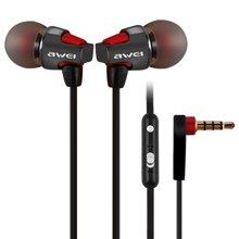 用维 ES-860hi有线耳机入耳式金属带麦运动耳塞重低音苹果华为手机通用