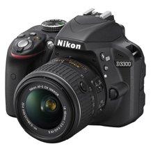 """尼康(Nikon) D3300 单反套机(AF-P DX 尼克尔 18-55mm f/3.5-5.6G VR)碳纤维机身坚固便携,易学设计,""""VR"""" 防抖!"""