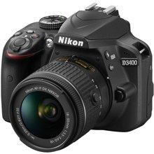 尼康(Nikon) D3400 入门单反相机(AF-P DX 尼克尔 18-55mm f/3.5-5.6G VR防抖镜头 )