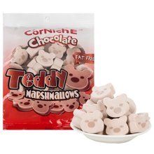 泰国进口 可尼斯牌巧克力味泰迪棉花糖 70g*4袋
