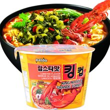 韩国进口 paldo八道辣白菜/龙虾/御膳章鱼海鲜味 碗面杯面泡面速食方便面