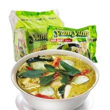 泰国进口 养养牌泰式青咖喱/海鲜味汤面 开胃休闲零食速食食品