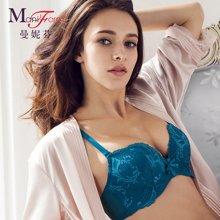 曼妮芬商场同款性感蕾丝聚拢文胸 调整型小胸内衣 20810342
