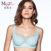 曼妮芬商场同款 全罩杯包容大杯棉质抹胸文胸 舒适透气上托聚拢胸罩 20840914