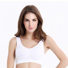 缔五季 双层少女无缝运动文胸 大码无钢圈背心无痕瑜伽调整型内衣 W138
