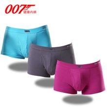 007男士枪弹分离平角裤保健内裤莫代尔阴囊托生理内裤三条促销礼盒装QD13-3