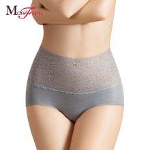 曼妮芬高腰蕾丝边轻型收腹美型裤  随美 20710158
