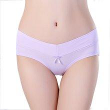 【五条装】俞兆林新款五条装女士棉质内裤 蝴蝶结中腰纯色女士三角裤  YZL420540