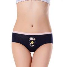 俞兆林 [五条装]女士新款棉质梦幻小兔星星内裤混色中腰卡通可爱少女系女士三角裤 YZL28007ATH