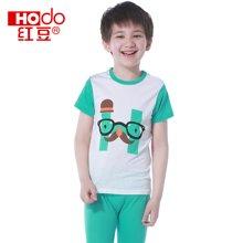 红豆短袖+裤子套头孩子休闲童装夏季套装男童 中大童短袖家居服 HD5203