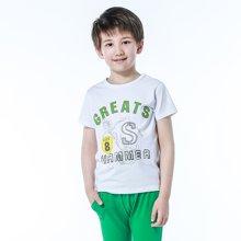 红豆男童睡衣夏季短袖纯棉薄款套装儿童家居服男童卡通印花 HD5217