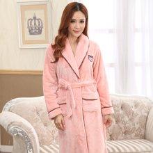 【预售】极有家冬季情侣装睡袍女士浴袍珊瑚绒加厚长袖睡衣家居服*E169013