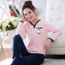 极有家睡衣棉质长袖睡衣套装韩版可爱卡通家居服*C169021