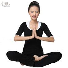 兰博伊人韩版瑜伽服女套装春夏 新款显瘦健身运动愈加服三件套L8028+B8028