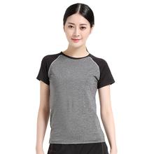 兰博春夏季紧身显瘦瑜伽服上衣女 跑步运动t恤速干短袖健身服上装L5003