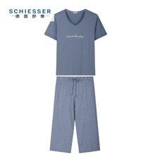 Schiesser/舒雅 女士短袖七分裤套装 41/11415H