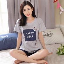 植木直韩版可爱家居服短袖短裤套装168016