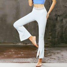 兰博伊人瑜伽裤运动健身裤显瘦瑜伽长裤九分裤网纱性感开叉微喇叭裤B006