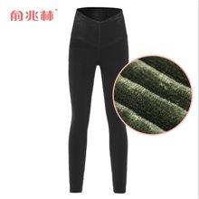 俞兆林 高度御寒高腰蕾丝保暖裤加厚加绒女冬季必备保暖裤 女士 YZL520031